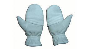 Рукавички з полар-флісу з відкидною рукавичкою білі S