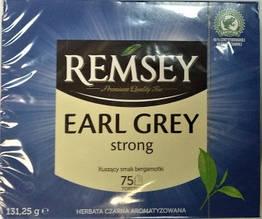 Чай черный с бергамотом Remsey Earl Strong 75 пакетов