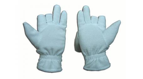 Перчатки из полар-флиса с откидной варежкой белые XL, фото 2