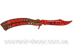 Нож Бабочка CS GO (Crimson web)