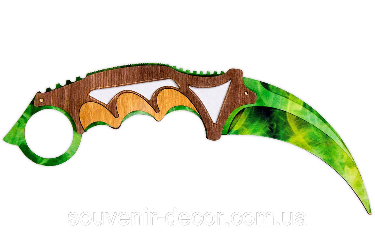 Нож Керамбит (Emerald green) из CS GO