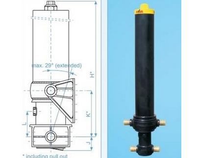 Гидроцилиндр HYVA FC 129-4-04280-070A-K0343 Hyva