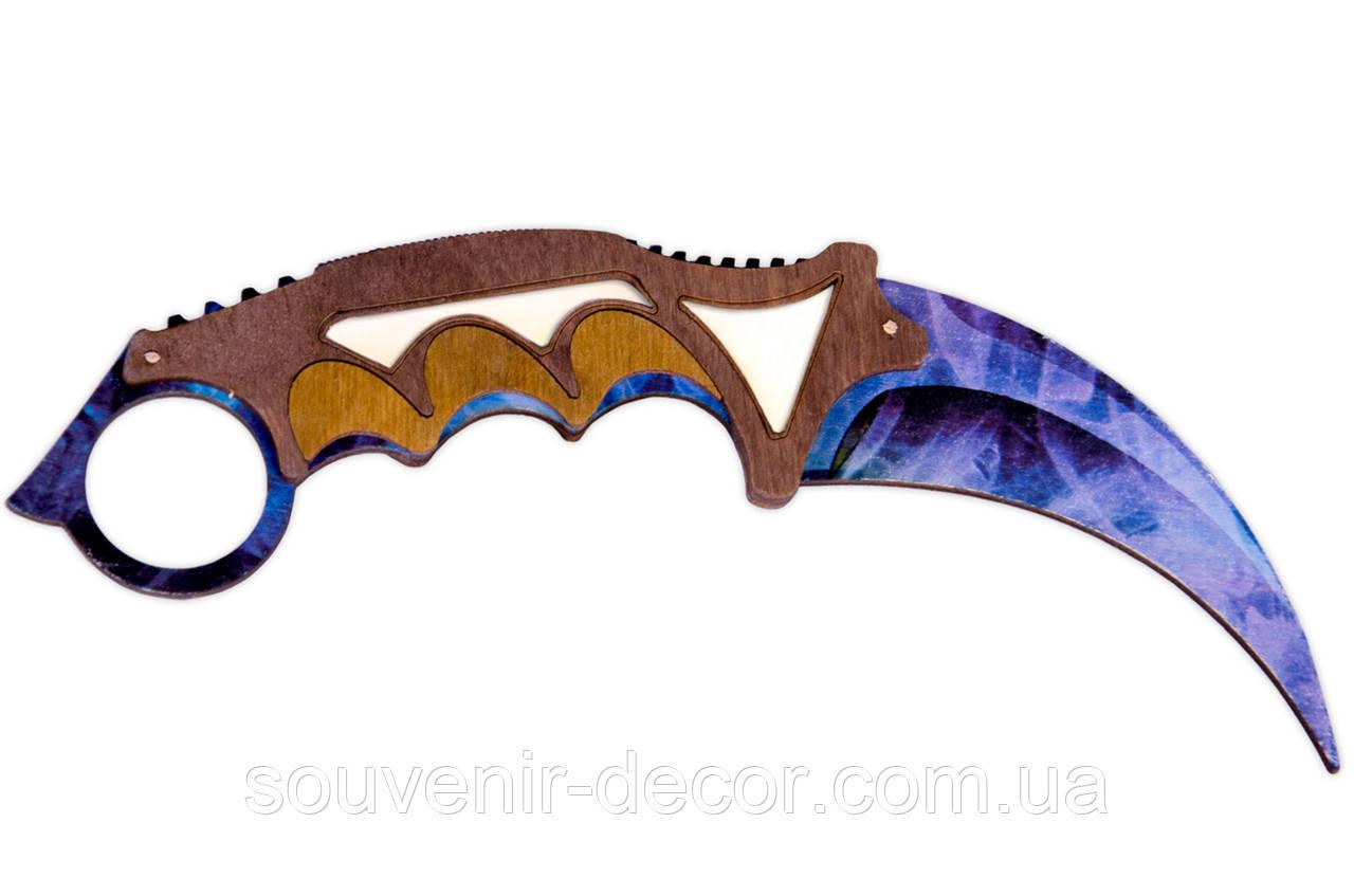 Нож Керамбит (Crystall fade) из CS GO