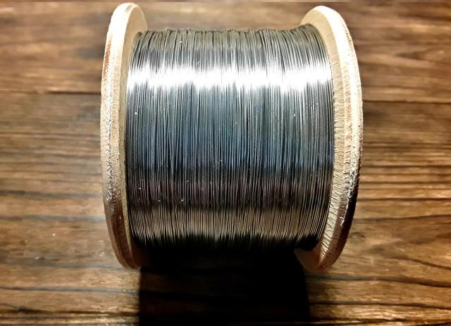 Струна, проволока из нержавеющей стали для электростатического копчения д 0,1 0,2 0,3 мм