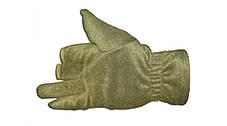 Перчатки из полар-флиса с откидной варежкой хаки S, фото 2