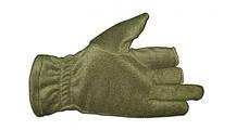 Перчатки из полар-флиса с откидной варежкой хаки S, фото 3