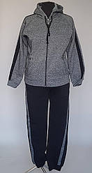 Женский спортивный костюм на байке серого цвета (50-62 р)