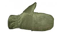 Перчатки из полар-флиса с откидной варежкой хаки XL, фото 2