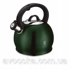 Чайник со свистком 3,0 л из нержавеющей стали Berlinger Haus Emerald Collection BH-1076