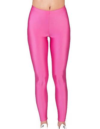 Детские лосины для девочек для танцев и гимнастики Розовый бифлекс Рост от 98 до 155 см, фото 2