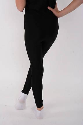 Спортивные детские лосины для танцев и гимнастики Черный бифлекс, фото 2
