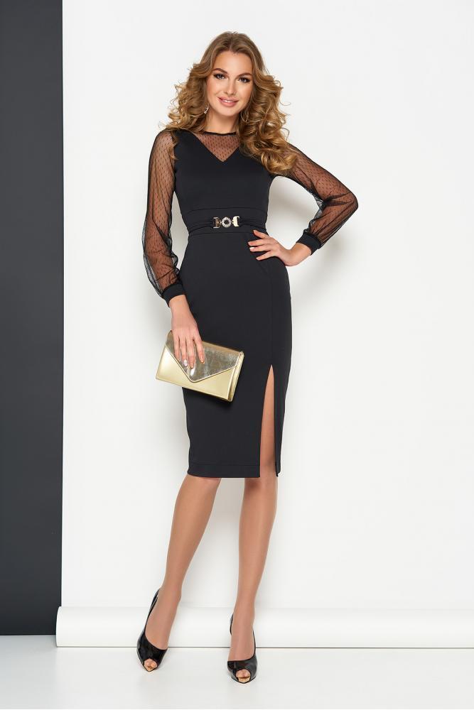 Элегантное женское платье с сеткой 44-50рр.(5 цветов)