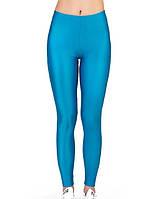 Танцевальные детские лосины для девочки из бифлекса Голубой Рост от 98 до 155 см