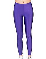 Детские лосины для танцев и гимнастики цвет Фиолетовый бифлекс Рост от 98 до 155 см
