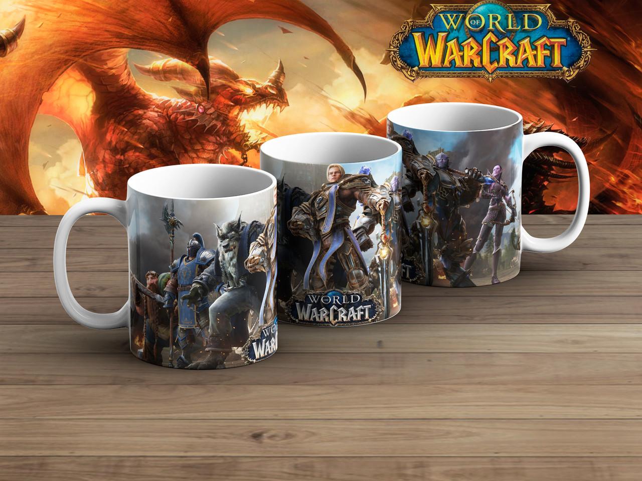 Чашка Альянс на сером Варкрафт / World of Warcraft