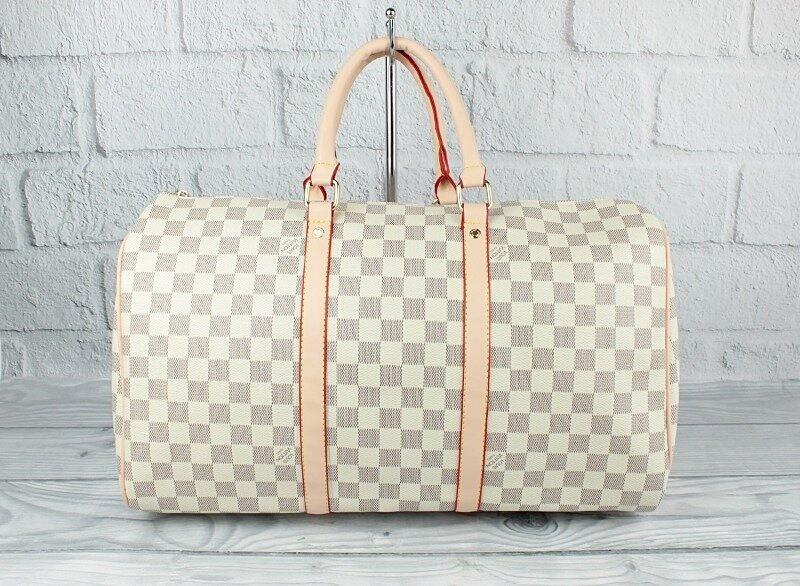 Сумка дорожная кожа PU молочная Louis Vuitton 366