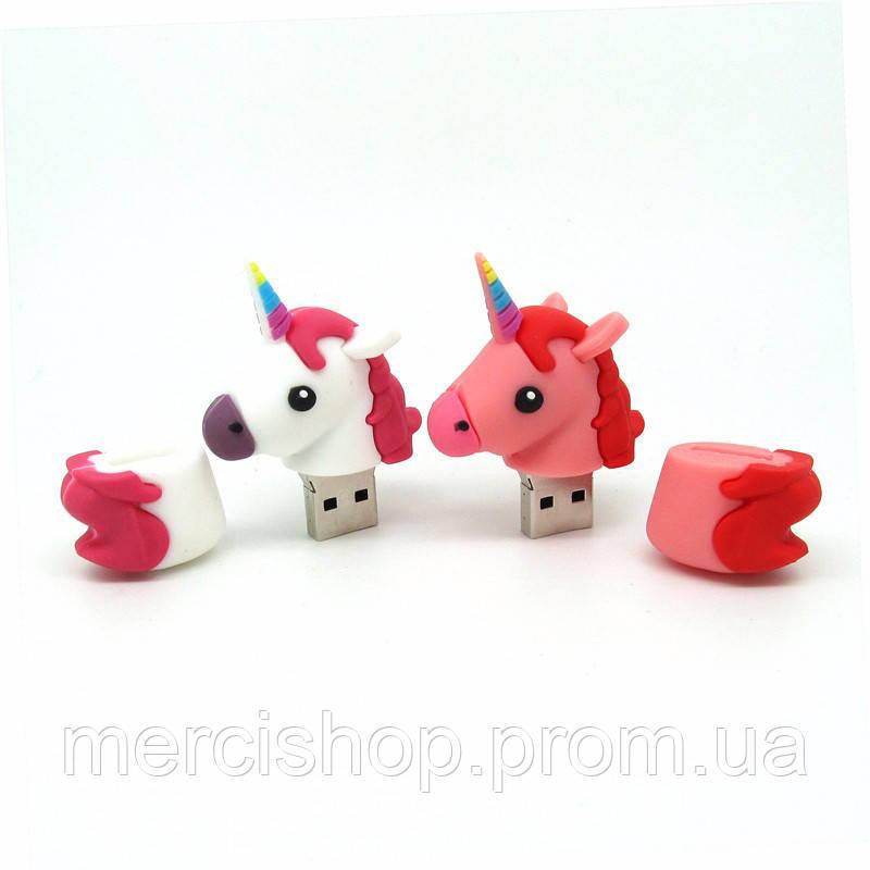 """Оригинальная флешка-игрушка """"Единорог"""" 32 Гб (цвет: розовый)"""
