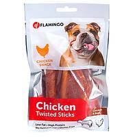 Лакомства для собак Скрученные куриные палочки Flamingo Twisted Sticks 55 г