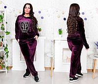 Модный велюровый женский прогулочный костюм (Батал-Супер Батал)