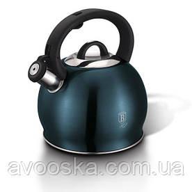 Чайник со свистком 3,0 л из нержавеющей стали Berlinger Haus Metallic Line AQUAMARINE Edition BH-1078