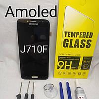 Экран, дисплейный модуль Super Amoled Samsung Galaxy J7 (2016) LCD SM-J710F черный