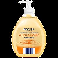 Жидкое крем-мыло для рук Biocura Cremeseife Молоко и мёд, 500 мл