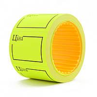 Ценник флюо TCBIL3525 4,00м, прямоугольный 160шт/рол, с надписью,  (жёлтый )