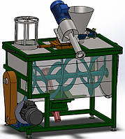 Ленточно-шнековый смеситель на 130 литр. Кормосмеситель,смеситель кормов, мешалка, миксер.