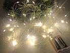 Гирлянда Роса LED 50 на батарейках , холодный белый, фото 2