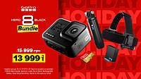 Камера GoPro HERO 8 Black с картой памяти на 32GB + набор аксессуаров Holiday Bundle (CHDRB-801)