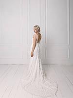 Свадебное кружевное платье с вышивкой бисером, фото 2