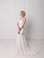 Свадебное кружевное платье с вышивкой бисером, фото 3