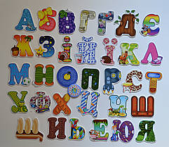Обучающие магниты буквы Украинский алфавит