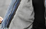 Натуральный мех лисы Женская джинсовая куртка хлопок, фото 9