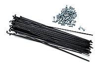 Спиці для велосипеда, 144 мм, 14G, з ніпелями, чорні (72 шт)