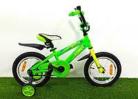 """Детский велосипед Azimut Stitch 14"""" Салатовый"""