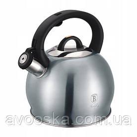 Чайник со свистком 3,0 л из нержавеющей стали Berlinger Haus Metallic Line Moonlight Edition BH-6416