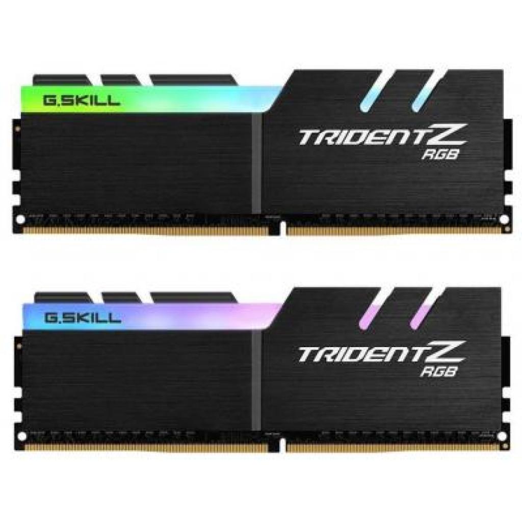 Модуль памяти для компьютера DDR4 32GB (2x16GB) 3200 MHz TridentZ RGB Black G.Skill (F4-3200C16D-32GTZR)