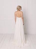 Классическое свадебное платье с кружевом на бретелях, фото 3