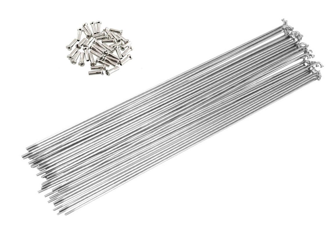 Спицы для велосипеда, 143 мм, 14G, с ниппелями, серебристые (72 шт)