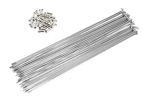 Спицы для велосипеда, 230 мм, 14G, с ниппелями, серебристые (72 шт)