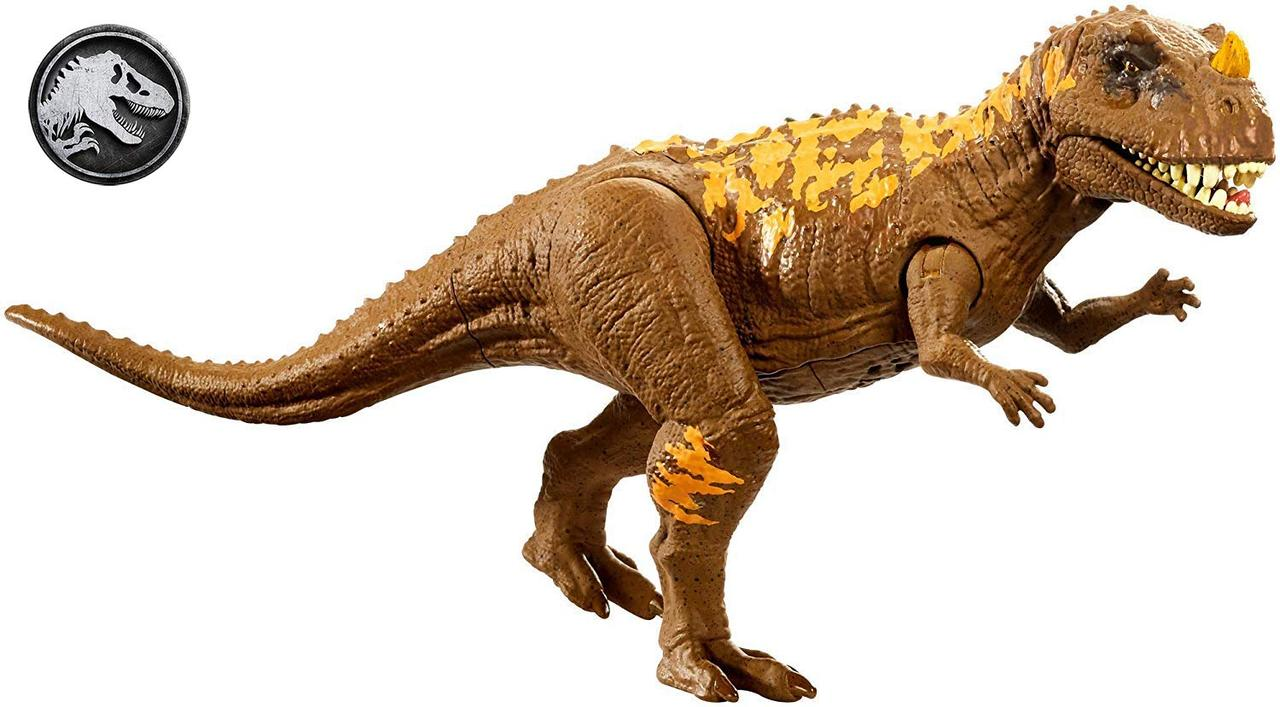 Игрушка динозавр цератозавр со звуковым эффектом Jurassic World Roarivores Ceratosaurus Юрский мир Mattel