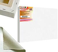Холст на подрамнике Factura BelleArti 3D 30х40 см Итальянский хлопок 285 грамм кв.м. среднее зерно белый, фото 1