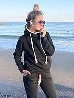 Женский теплый спортивный костюм на флисе с капюшоном С, М +большие размеры