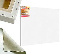 Холст на подрамнике Factura BelleArti 3D 50х70 см Итальянский хлопок 285 грамм кв.м. среднее зерно белый, фото 1