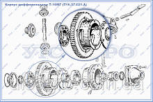 Корпус диференціала Т16.37.021 А (Т-16, Т-16МГ, СШ-2540)