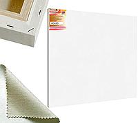Холст на подрамнике Factura BelleArti 3D 80х80 см Итальянский хлопок 285 грамм кв.м. среднее зерно белый
