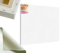 Холст на подрамнике Factura BelleArti 3D 100х120 см Итальянский хлопок 285 грамм кв.м. среднее зерно белый