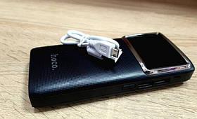 Power bank Hoco 60000 mAh 2USB+LED фонарь Портативная зарядка Внешний аккумулятор Черный