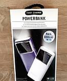 Power bank Hoco 60000 mAh 2USB+LED фонарь Портативная зарядка Внешний аккумулятор Черный, фото 2